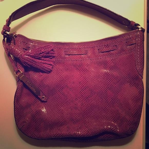 b7a27735be7 Cole Haan Bags | Purple Snakeskin Shoulder Bag | Poshmark